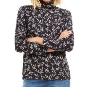 Karen Scott Printed Turtleneck Top, Created For Macy's