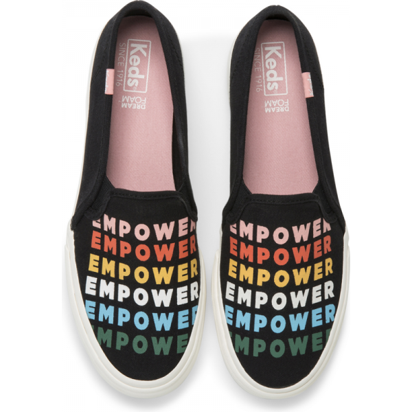 Keds Women's Double Decker Empower Size: 5W, Black Multi