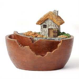 Luxen Home WH025 Miniature Fairy Garden Cottage Planter