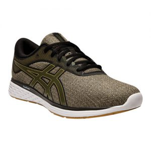 Men's ASICS Patriot 11 Twist Running Shoe, Size: 9.5 D, Wood Crepe/Olive Canvas