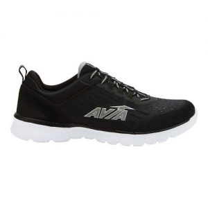 Men's Avia Avi-Factor Running Sneaker, Size: 7 M, Jet Black/Silver Filigree/Chili Pepper