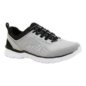 Men's Avia Avi-Factor Running Sneaker, Size: 7.5 M, Alloy/Jet Black/Silver