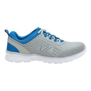 Men's Avia Avi-Factor Running Sneaker, Size: 7.5 M, Alloy/Skydiver/Silver/Bright White