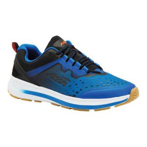 Men's Avia Avi-Maze Running Sneaker, Size: 11.5 M, Skydiver/Black/Flame