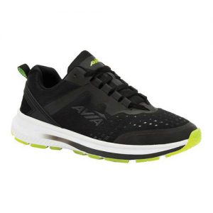 Men's Avia Avi-Maze Running Sneaker, Size: 13 4E, Black/Lime Punch