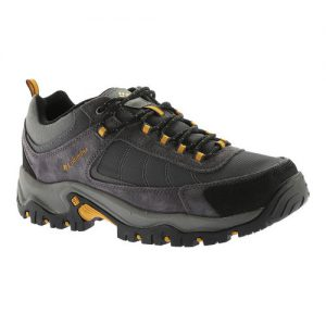 Men's Columbia Granite Ridge Waterproof Hiking Shoe, Size: 11 W, Dark Grey/Golden Yellow