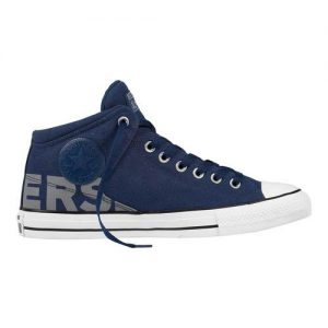 Men's Converse Chuck Taylor All Star High Street Mid, Size: 12 M, Navy/White/Dolphin