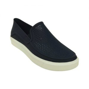 Men's Crocs CitiLane Roka Slip-on, Size: 12 M, Navy/White