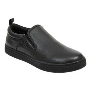 Men's Deer Stags Depot Slip On Sneaker, Size: 12 M, Black Simulated Tumbled Leather
