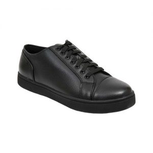 Men's Deer Stags Station Sneaker, Size: 9.5 W, Black Simulated Tumbled Leather