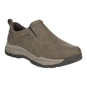 Men's Dr. Scholl's Vail Slip On Sneaker, Size: 12 W, Dark Taupe Faux Leather