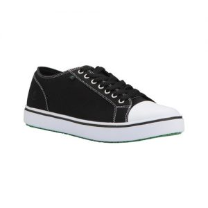 Men's Emeril Lagasse Footwear Canal Sneaker, Size: 9.5 D, Black/White Canvas