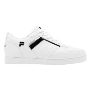 Men's Fila Davenport 4 Low Top Sneaker, Size: 10.5 M, White/Black/White