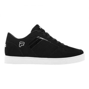 Men's Fila Davenport 4 Low Top Sneaker, Size: 11.5 M, Black/Black/White
