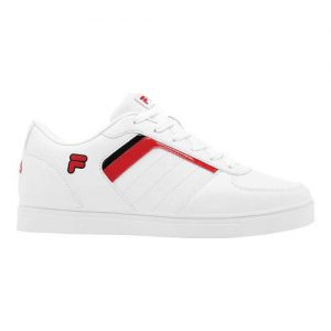 Men's Fila Davenport 4 Low Top Sneaker, Size: 7.5 M, White/Fila Red/Black