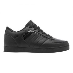 Men's Fila Davenport 4 Low Top Sneaker, Size: 9 M, Black/Black/Black