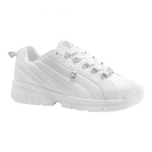 Men's Fila Exchange 2K10, Size: 13 M, White/White/Metallic Silver