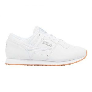 Men's Fila Machu Low Top Sneaker, Size: 10 M, White/Highrise/Gum