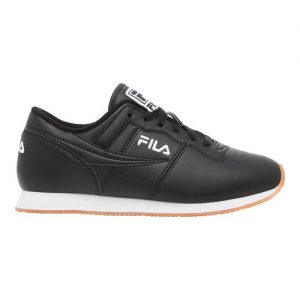 Men's Fila Machu Low Top Sneaker, Size: 12 M, Black/White/Gum