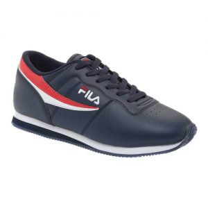 Men's Fila Machu Low Top Sneaker, Size: 7.5 M, Fila Navy/Fila Red/White