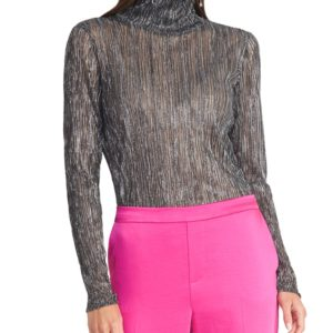 Rachel Rachel Roy Val Metallic Turtleneck Top