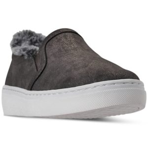 Skechers Women's Goldie Faux-Fur Slip-On Casual Sneakers from Finish Line