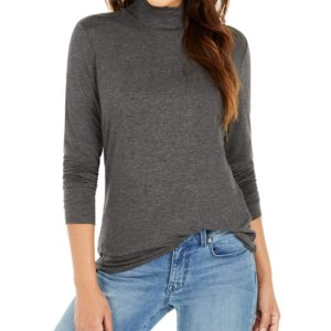 Style & Co Long-Sleeve Turtleneck Top, Created for Macy's