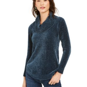 Style & Co Petite Metallic-Threaded Turtleneck Sweater, Created For Macy's