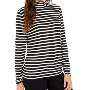 Style & Co Striped Turtleneck Top, Created for Macy's