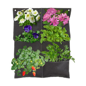 Vertical Garden Balcony Planter - Brown, Pocket of 6