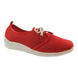 Women's Beacon Shoes Laurie Sneaker, Size: 6.5 N, Red Mesh Fabric