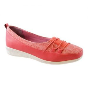 Women's Beacon Shoes Polly Sneaker, Size: 9.5 N, Coral Stretch Fabric
