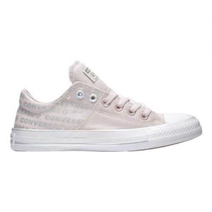 Women's Converse Chuck Taylor All Star Madison Iridescent Ox, Size: 7.5 M, Barely Rose/White/Silver Canvas/Rubber