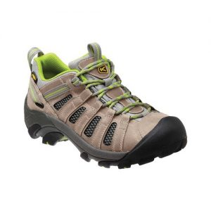 Women's Keen Voyageur Hiking Shoe, Size: 5.5 M, Neutral Gray/Lime Green