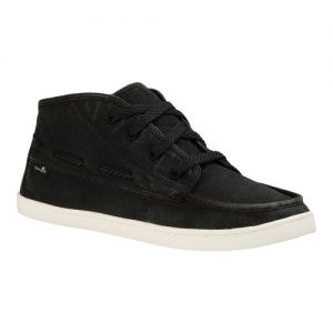 Women's Sanuk Vee K Shawn High Top, Size: 7 M, Black Washed Canvas